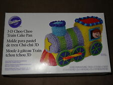 Wilton 3-D Choo Choo Train Cake Pan-Decorating Instructions Included-New