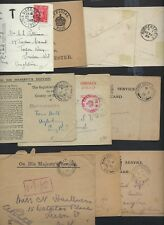 Uk Gb 1889 1949 Collection Of 10 Covers & Cards Ohms Official Paid In Red 3 Cove
