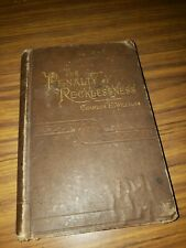 New listing Rare 1884 Antique The Penalty Of Recklessness by Charles William's 1st Edition