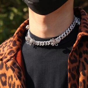 AAA+ Gold Silver Zircon Necklace Clavian Chain For Men Women hip hop