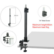 60cm Desk Mount Studio Light Fold Camera Flash LED Video Clip Light Stand