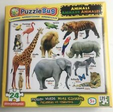 Jigsaw Puzzle Puzzlebug Picture Words-  Animals 24 Pieces Factory Sealed