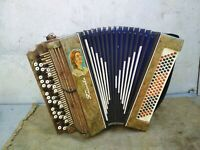 Vintage Retro USSR Soviet Musical Instrument Accordion
