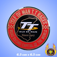 Isle of Man TT Races Road Racing Capital of the World 1907 Gel Badge Sticker
