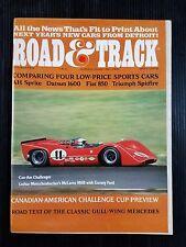 Road & Track Oct 1968 Mercedes-Benz 300SL - Marcos 1600GT - Alfa Romeo  Kawasaki