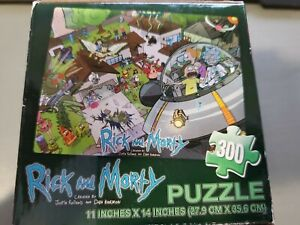 NEW RICK AND MORTY 300 PIECE JIGSAW PUZZLE LOOT CRATE EXCLUSIVE (New)