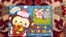 Monchhichi Karte, Merry Christmas, NEU!