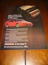 1991 PONTIAC GRAND PRIX GTP  ***ORGINAL AD***
