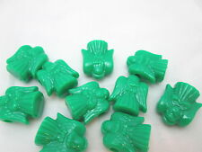 10 Novelty 25mm Christmas Angel Pony Beads - Opaque Green