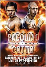 MANNY PACQUIAO v MIGUEL COTTO WORLD TITLE BOXING PROMO POSTER
