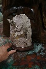 """BEAUTIFUL LARGE LEPIDOLITE MICA SPECIMEN -  9"""" X 6"""" X 3"""" ON WOOD STAND"""