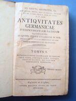 HEINECCII-ANTIQUITATES GERMANICAE IURISPRUDENTIAM PATRIAM-TRE TOMI-LIPSIA 1772
