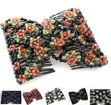 Elastische Haarspange Haarkamm EZ Combs African Hair Haar Blumen Magic Combs
