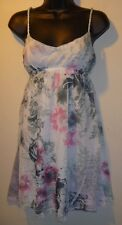 MINI Dress Size XL NWT Sexy Gray & Pink Sundress Empire Waist Rhinestone  281
