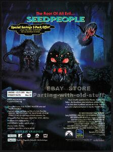 SEEDPEOPLE__Original 1992 Trade Print AD / ADVERT__Andrea Roth__Full Moon horror