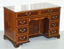 STUNNING VICTORIAN 1880 EDWARD & ROBERTS SATINWOOD & WALNUT PARTNER DESK RARE!!!