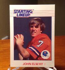 John Elway 1988 Starting Lineup Card & 1998 UD Helmets Broncos Card