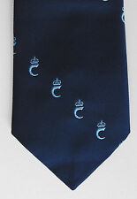 Tie with Initial C and Royal Crown tie Tudor Ties Navy blue club logo monogram