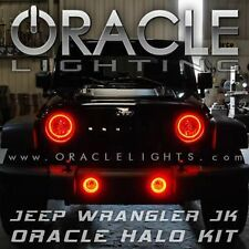 Oracle 2665-003 2007-2017 Jeep Wrangler JK Red Headlight Halo Light Kit