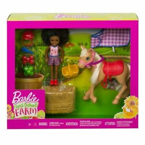 Barbie Sweet Orchard Farm - Chelsea Doll and Pony Playset. Brand New, NRFB.