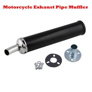 280mm Black Racing Universal 2-Stroke Motorcycle ATV Muffler Exhaust Silencer