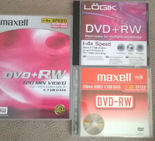 18 DVD+RW  Maxell & Logik 4.7 GB  Discs Used Once