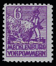 EBS Germany 1946 Soviet Zone Mecklenburg-Vorpommern 6 Pf Michel 33x MH* cv$10