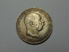 1914 AUSTRIA FRANZ JOSEPH I SILVER KORONA AU KM# 2820 SUPER NICE! MUST SEE!!