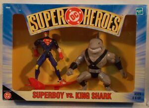 DC Comics Superheroes Superboy Vs. King Shark Figures With Surf Board Hasbro MIB