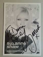 Autograph - Suzanne Shaw - Singer TV Stage Actress Hear'Say Musicals live ink