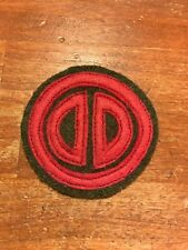 "WWI US Army 31st ""Dixie"" Division Patch wool AEF"