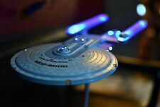 Pro Built LED Lighted w/stand Star Trek USS Excelsior Movie model Stand Sound FX