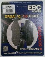 PIAGGIO X7 EVO 300 (2010 to 2012) EBC Organic PASTILLAS DE FRENO DISCO DELANTERO
