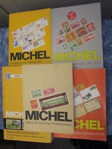 5 Stück Michel Deutschland Kataloge mit Spezial 1 / Ganzsachen / Privatpost /