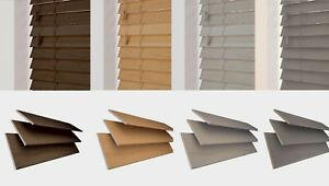 Made to Measure *Wood Grain Design* Venetian Blind Assorted Colours - 50mm slats