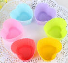 FD593 Heart Cake Muffin Mould Candy Cookie Chocolate Silicone Jelly Bakeware 1pc