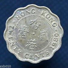 Hong Kong 20 Cents 1980. km36. Queens. Asian coin. China