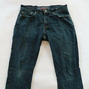 Levis Mens Stretch Denim Dark Wash 511 Skinny Jeans Size 34x32