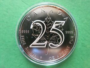2013 Canada 1oz silver bullion coin 25 year Anniv. in capsule FREE SHIPPING