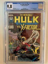 Incredible Hulk #336 CGC 9.8 WP - Newsstand - Hulk vs X-Factor! Todd McFarlane