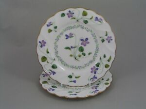"TWO NORITAKE VIOLET DREAM 6 1/4"" SIDE PLATES."