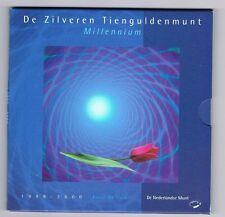 NEDERLAND 10 GULDEN 1999 MILLENNIUM FDC IN blister