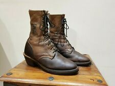 "Vintage Chippewa 12"" Lace-up Packer Boots 2 Tone Size UK 9"