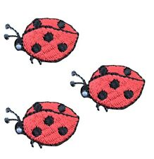 Mini Ladybug Applique Patch (3-Pack, Small, Iron on)