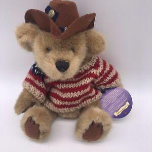 "Brass Button Bears Cody Teddy Bear Plush 12"" Animal USA Flag Sweater Hat G8"