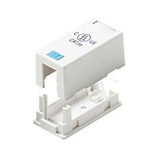 Eagle Single Port Keystone Surface Mount Jack Bisquit Block RJ45 Modular White