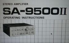 manuale utente amplificatore SA-9500II MKII hifi stereo pioneer carta formato a4