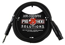"""3ft 1/4"""" TRS Male to XLR 3-Pin Female Shielded Balanced PigHog Audio Cable"""