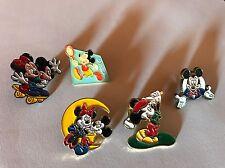 Lot Set 5 Pin's Disney 90's - RARE - Mickey Minnie Lune Moon Skate