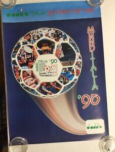 Vintage Diadora Italia '90 World Cup Tour Mund Italia Soccer Poster